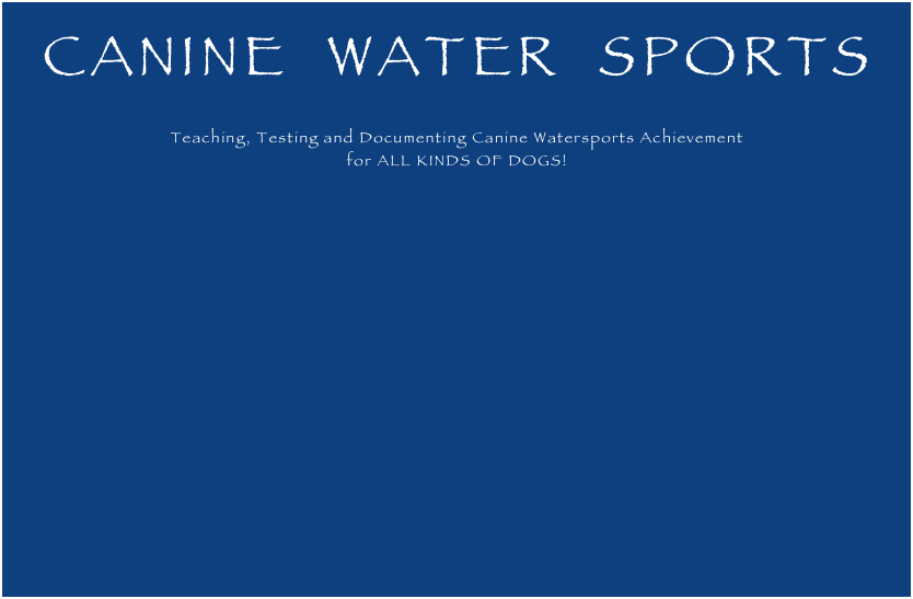 CANINE  WATER  SPORTS